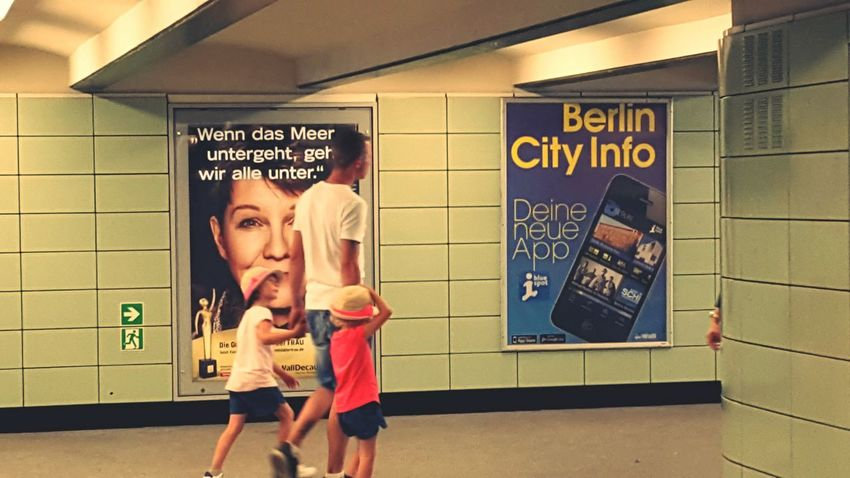 Capture Berlin u-bahn Two People Child Family Communication People Blond Hair Adult Full Length Indoors  Domestic Life Togetherness Day