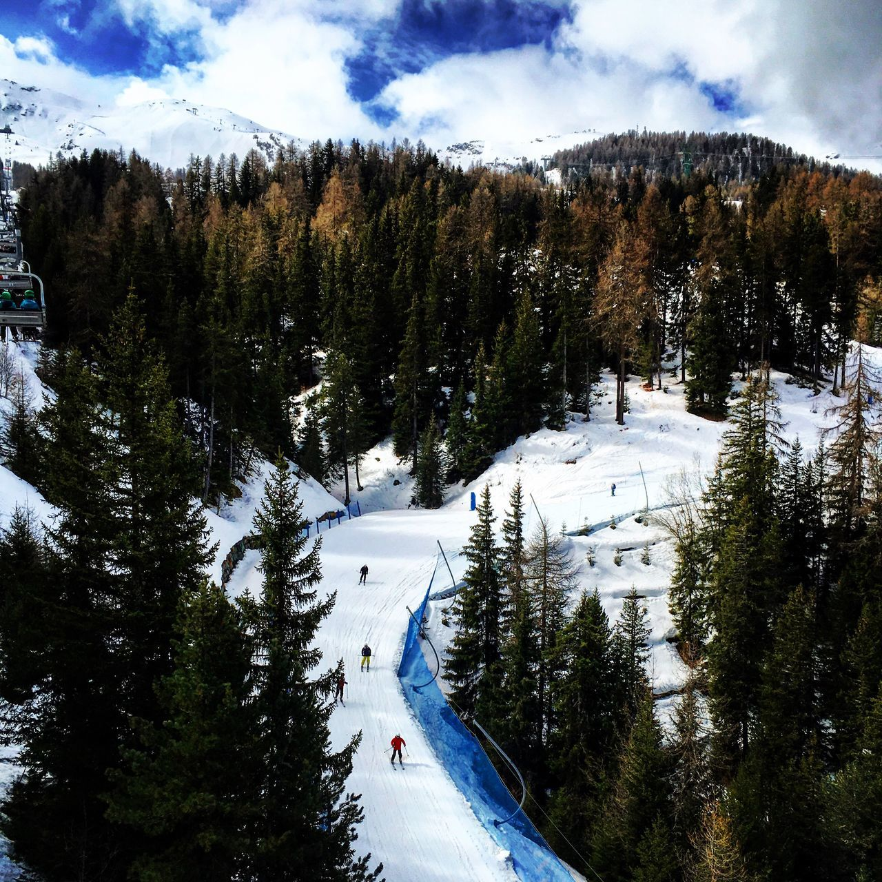Pila Skiing Resort Italy Aosta Winter Snow Cold Temperature Weather Tree Beauty In Nature Nature Scenics Tranquility Tranquil Scene Non-urban Scene Sky Mountain Ski Track Outdoors Day Landscape No People Ski Lift Adventure