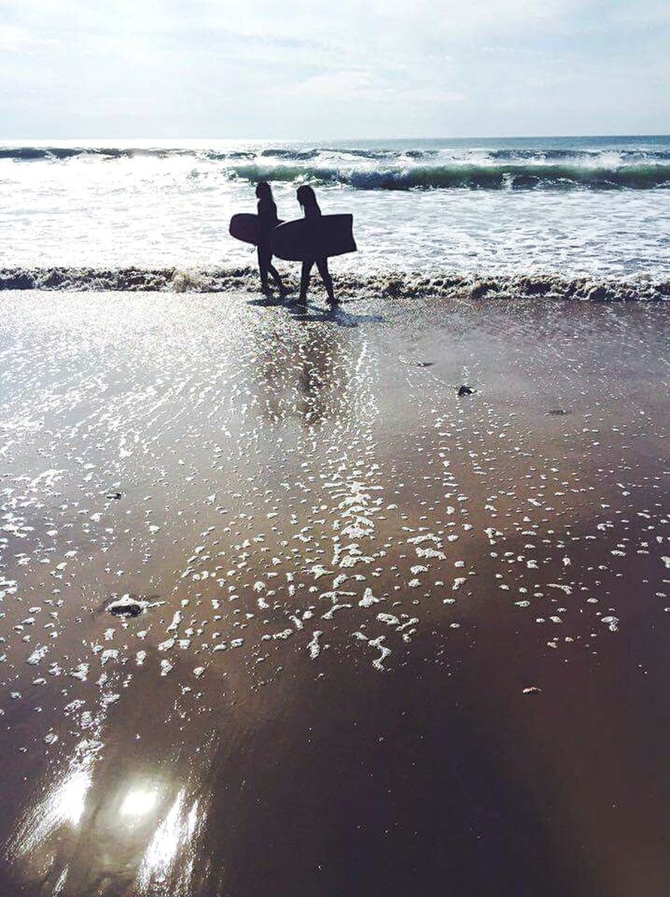 Enjoying Life Waves Sport Sea Beach Friends