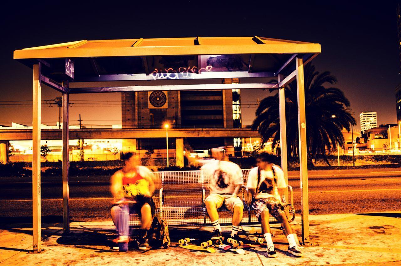 | The Stop | SK  Stealthy Kultuur Streetphotography Throwback KiaIV La Bus Stop Skating Pennyboard Long Exposure