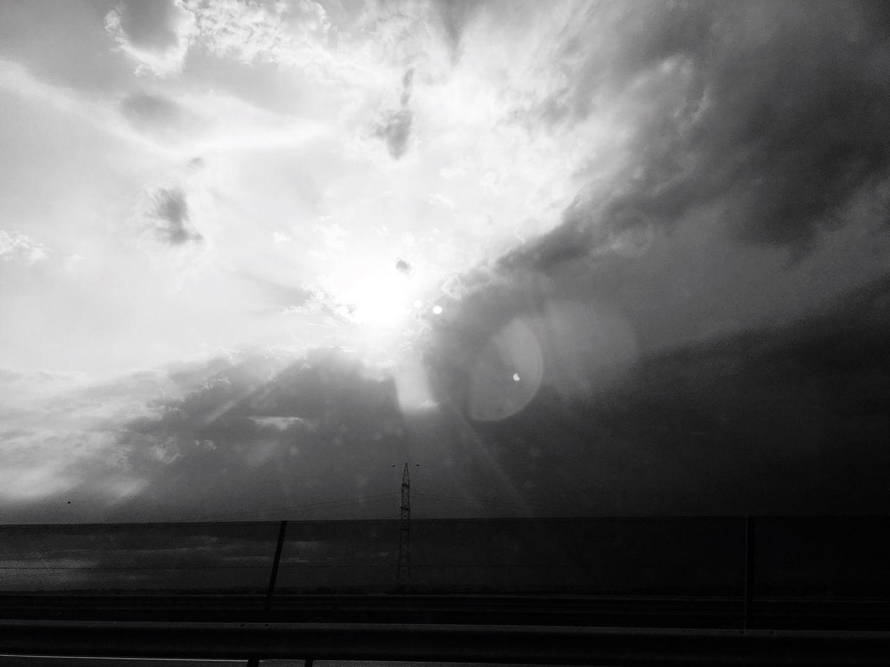 Sky Sunbeam Motorway Drive Storm
