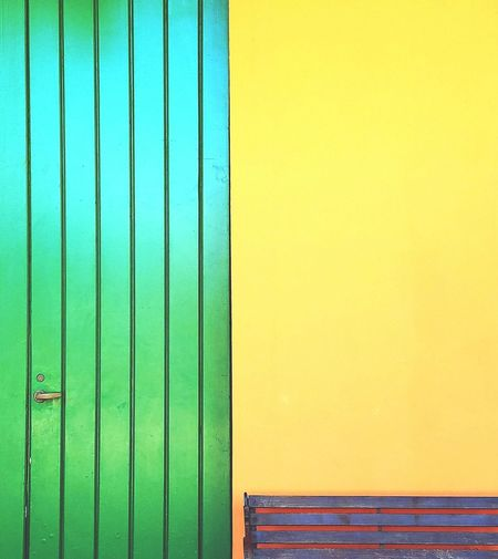 Green Color Door Corrugated Iron Backgrounds Still Life Architectural Detail Minimalism Simplicity Simple Elegance Yellow Minimalist Architecture Wooden Door Contrast Colorful Vertical Composition Lines And Angles Abstractions In Colors Abstract Design The Graphic City