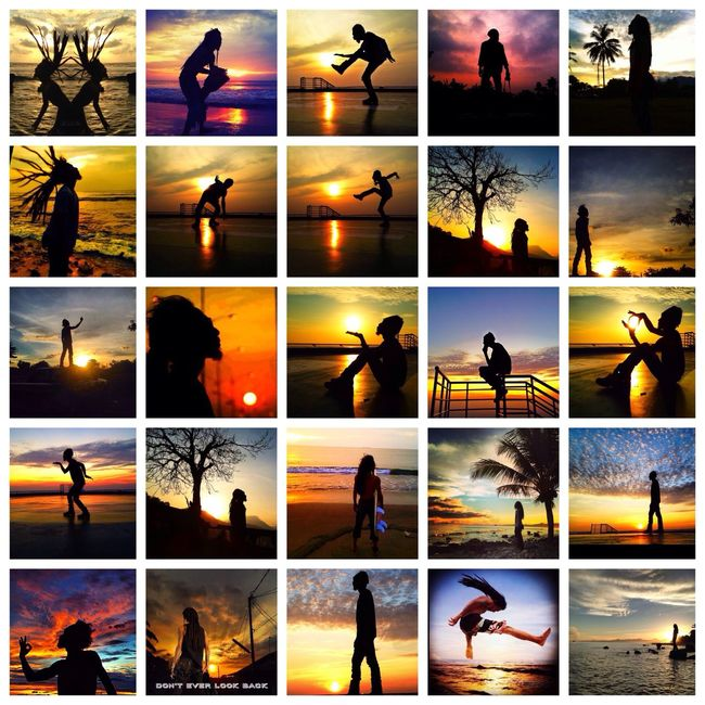 Aku dan sang mentari Silhouette Art Clouds And Sky Photography