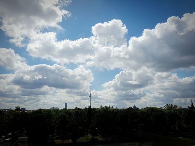 Tvtower Tvtower #berlin #alexanderplatz Tvtowerberlin Clouds Clouds And Sky Blue Blue Sky White Tree Trees Trees And Sky Sky Sky And Clouds Skyporn Berlinwall City City Life First Eyeem Photo