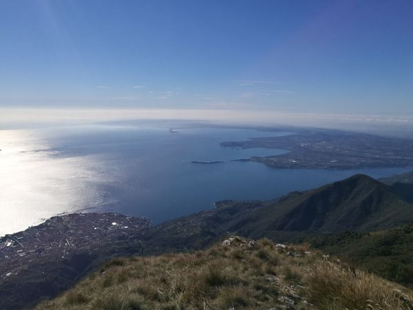 View of lower Garda Lake from Monte Pizzocolo