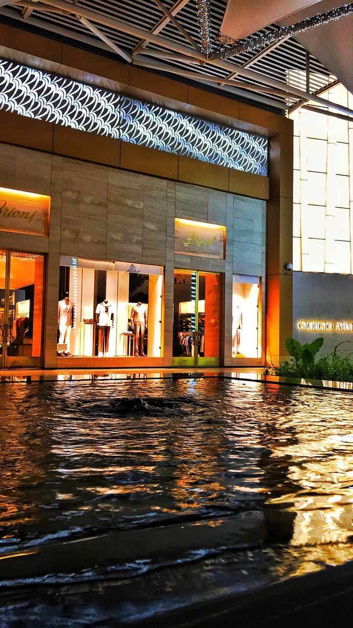 architecture, built structure, water, illuminated, day, no people, indoors, building exterior