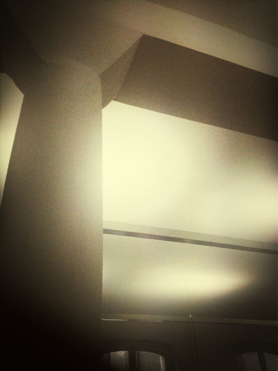 indoors, architecture, built structure, low angle view, no people, illuminated, close-up, day