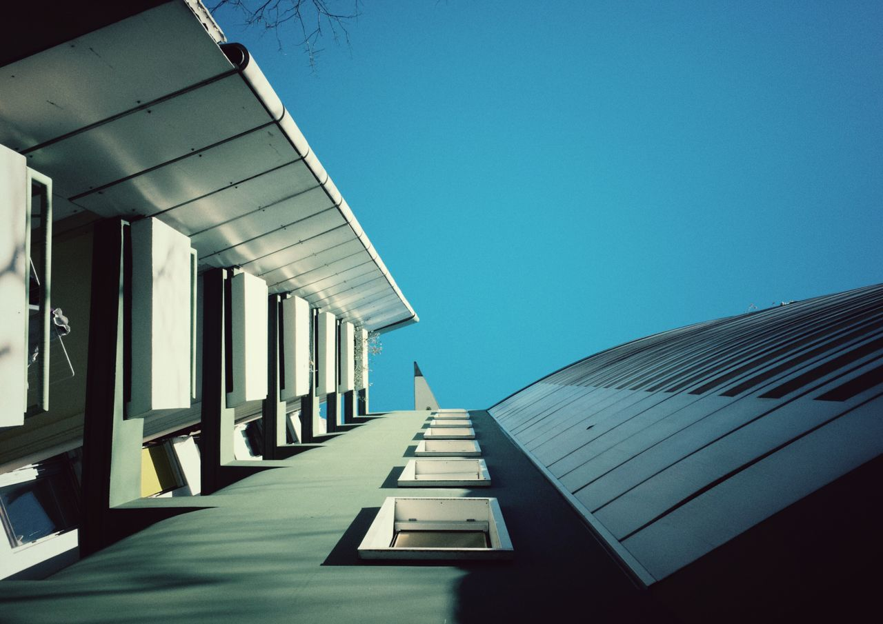 Architecture Clear Sky Built Structure Building Exterior Modern Day Sunlight City Outdoors No People The Way Forward Sky Science Fiction Balcony View Structures & Lines