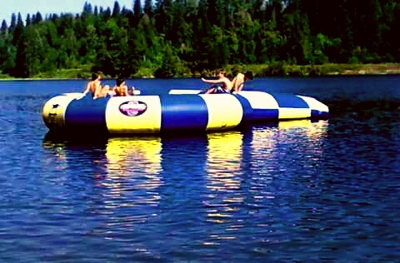 Cheese! Relaxing Enjoying Life Splash Jumping Trampoline Water Toys Cooling Off Swimming Fun Priest River Summer Time  Idaho Grandmas House Jump In The Water  People Together Swim With The Fishes Athleisure Hidden Gems  Home Is Where The Art Is