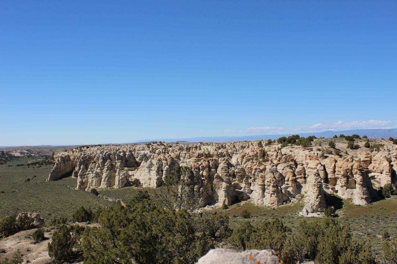 Castle Gardens near Tensleep, Wyoming. Vastness Juniper Trees Sagebrush Rock Formation Distant Background Wyoming Landscape Wyoming Erosion Effects Bighorn Mountains From Above