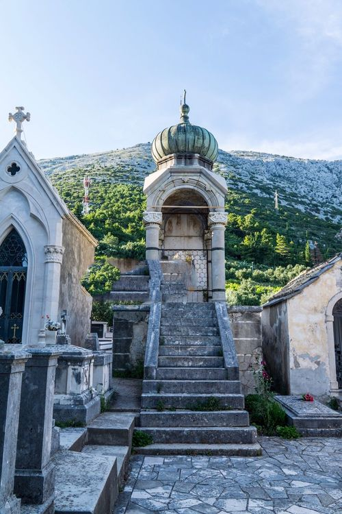 Graveyard Cemetery Architecture Outdoors Built Structure No People Sky Religion Day Croatia Orebic