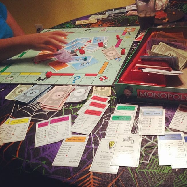 Yesterday my girl @paris_mami beat my butt in monopoly lol but tonight i hit had to hit her wit the Drizzy Howboutnow lol love you babe