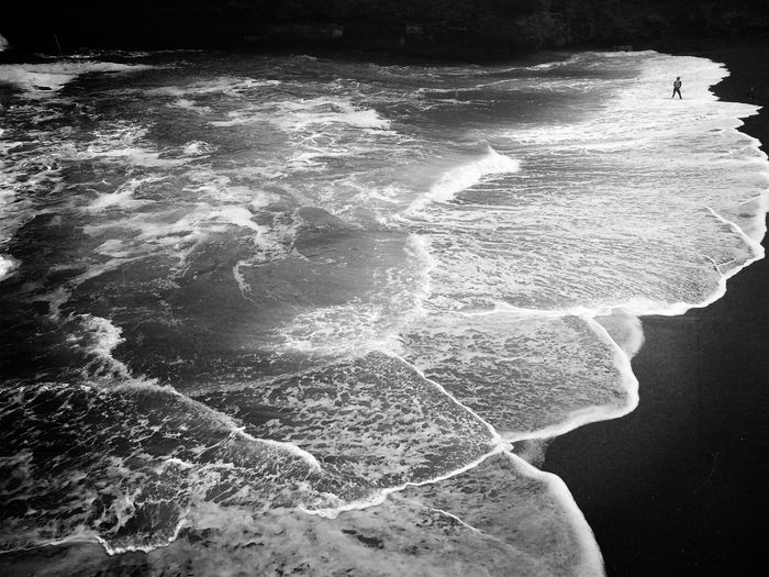 Beauty In Nature Water Sea No People Wave Outdoors Nature Blackandwhite The Week On EyeEm