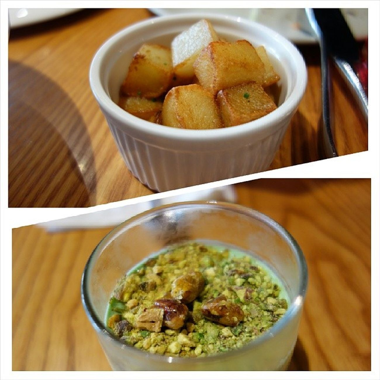 Extra side dish: sautéed potatoes (this is good...) Dessert: Pistachio Panna Cotta with ground & caramelised pistachios (creamy , flavourful dessert that end our meal on a good note!) Lunch Potatoes Dessert EatOut foodporn yummy fatdieme makanhunt food instafood instafoodies foodie foodgasm fotd foodgram foodinc sgfood sgigfoodies singaporefood foodforfoodies foodstagram lifeisdeliciousinsingapore happytummy foodphotography foodplease openricesg burpple FoodReviewsAsia