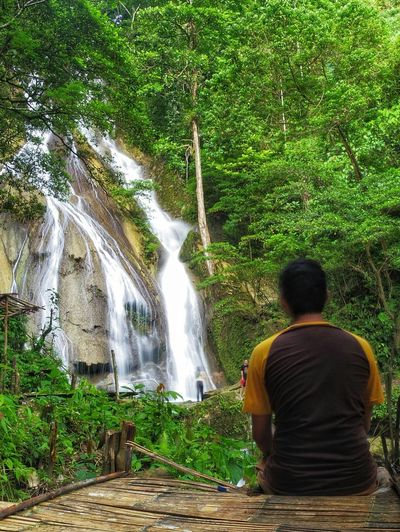 Rear View Water Waterfall Tree One Person Nature Men Adults Only Outdoors People Day Adult Beauty In Nature One Man Only Only Men Sky EyeEm Nature Lover AmbonIsland Summer Swimming Mountain Long Exposure Lifestyles Tree Nature Connected By Travel Second Acts Be. Ready.
