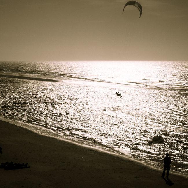JUMP Beach Eiderstedt Flying Gliding Horizon Over Water Jump Jumping Kite Kite Flying Kitesurfing Men Reflection Rippled Sail Away Scenics Sea Shore Silhouette Sports Surfboard Surfing Watching Water