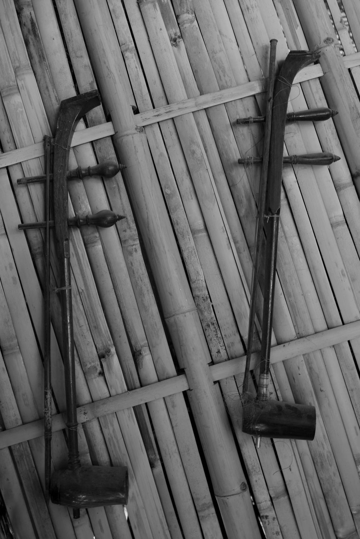 Musical Instrument Thai Instruments Thai Instrument Thai Music Player Music Player Fiddle Black And White Fiddle Black And White Black And White Photography ใน Suphanburi, Thailand