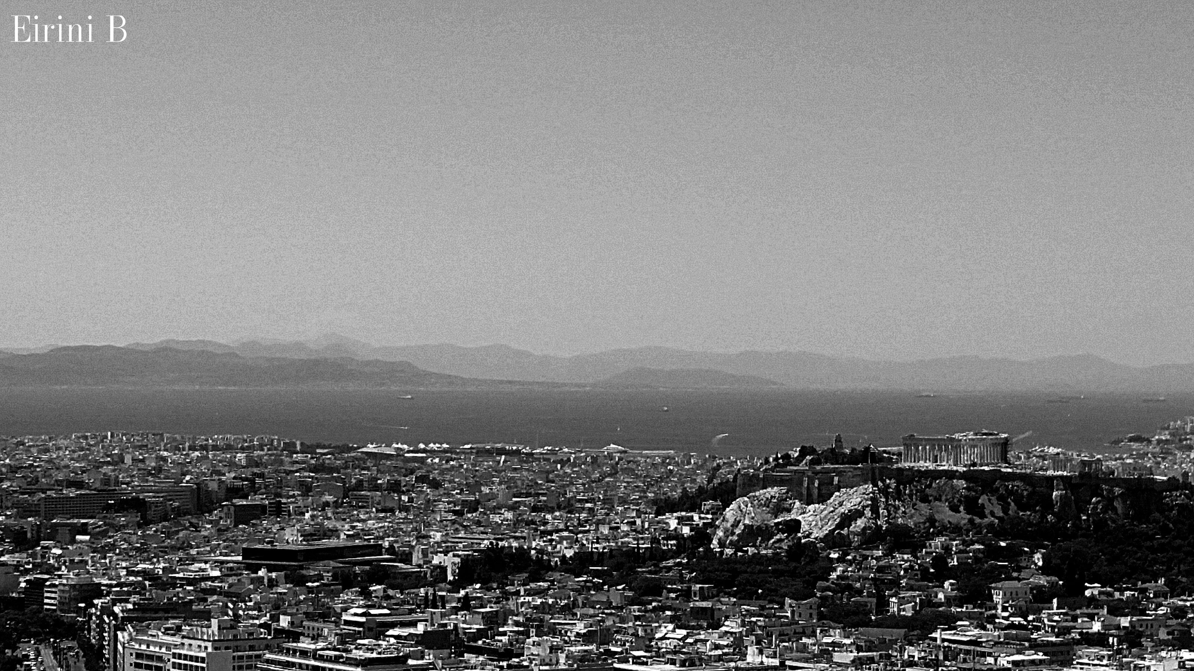 Arhens,Greece City Architecture Sky Outdoors Sea Day Cityscape Lykavitos Akropolis Mountains