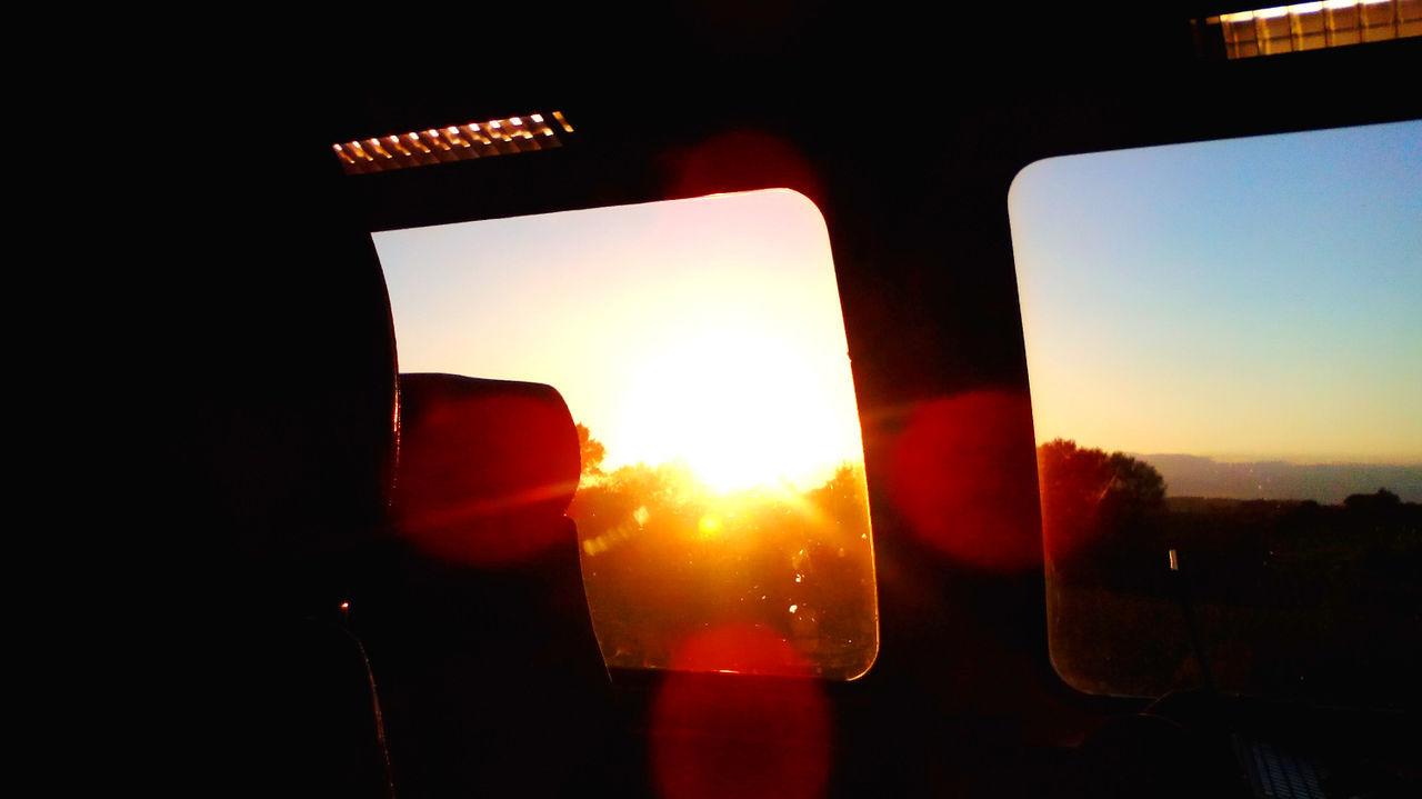 Sunlight Seeing Through Bus Window