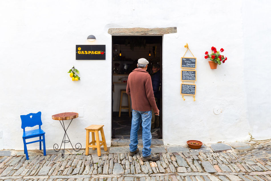 Portuguese Cafe with nice decoration Cafe Chair Coffee Colourful Copy Space Decoration Friendly Holiday Idyllic Lifestyles Mediteranean Monsaraz One Person Outdoors People Portugal Reguengos Reguengos De Monsaraz Reguengosdemonsaraz Street Streetphotography Tourism Vacations White Wall