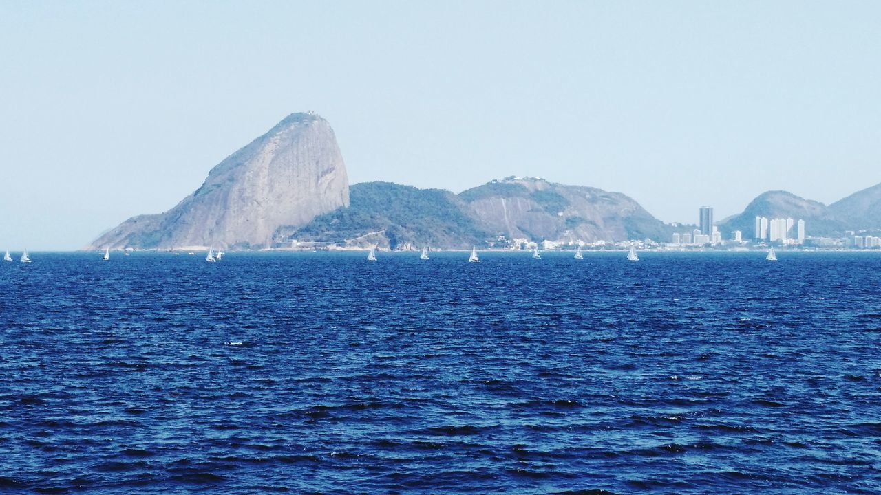 Water Sea Blue Mountain Outdoors Scenics No People Travel Destinations Beauty In Nature Day Nature Nautical Vessel Sky Horizon Over Water Rio De Janeiro Brazil Baía De Guanabara