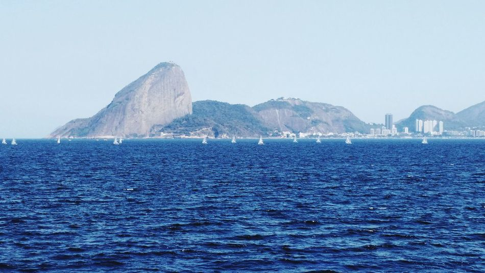 Water Sea Blue Mountain Outdoors Scenics No People Travel Destinations Beauty In Nature Day Nature Nautical Vessel Sky Horizon Over Water Rio De Janeiro Brazil Baía De Guanabara
