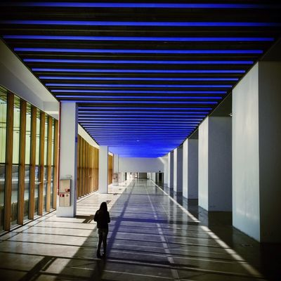 AMPt - Vanishing Point at Disseny Hub Barcelona (DHUB) by RoldixBCN