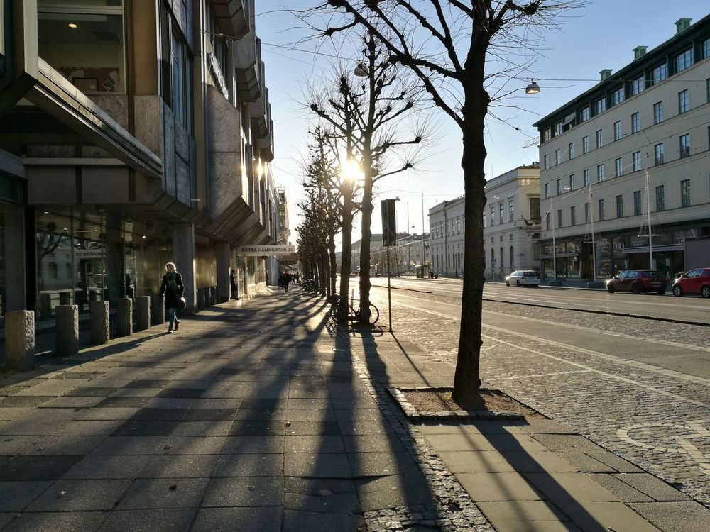 Streetphotography Building Exterior Street The Way Concrete Concrete Buildings Pavement Gothenburg, Sweden Bright Daylight Architecture Built Structure Morning Light Urban Morning Walking Down The Street Sunny Day Smartphonephotography HuaweiP9