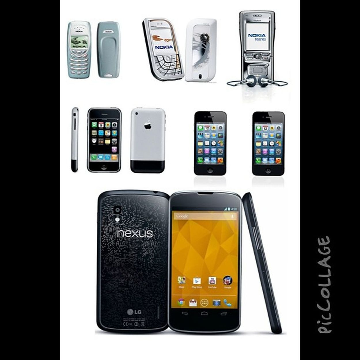 From the oldest to the most current...what's next? #piccollage #nokia3410 #nokia7610 #nokiaN91 #iPhone2G #iPhone4 #iPhone4S #Nexus4 IPhone4s Nexus4 Iphone4 PicCollage  Nokia3410 Nokian91 Iphone2g Nokia7610
