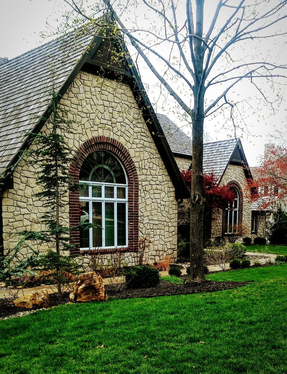 Early Spring Building Exterior No People Outdoors Tree Grass Home Sweet Home ❤ House Suburban Home Exterior Lawn Beautiful Home Dusk Light Eyem Gallery Irwin Collection Stone House