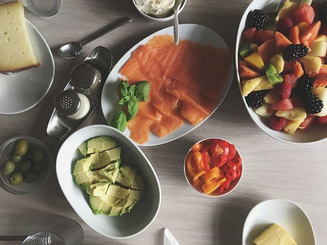 Food And Drink Food Freshness Directly Above High Angle View Indoors  Table Plate Healthy Eating No People Ready-to-eat Horizontal Day