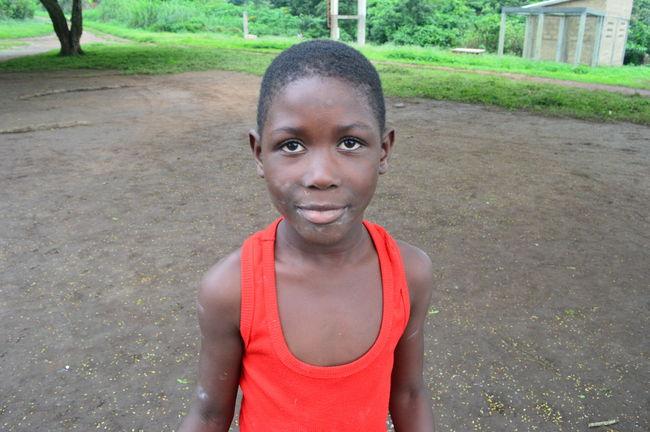 Africa Childhood Portrait Smiling Togo