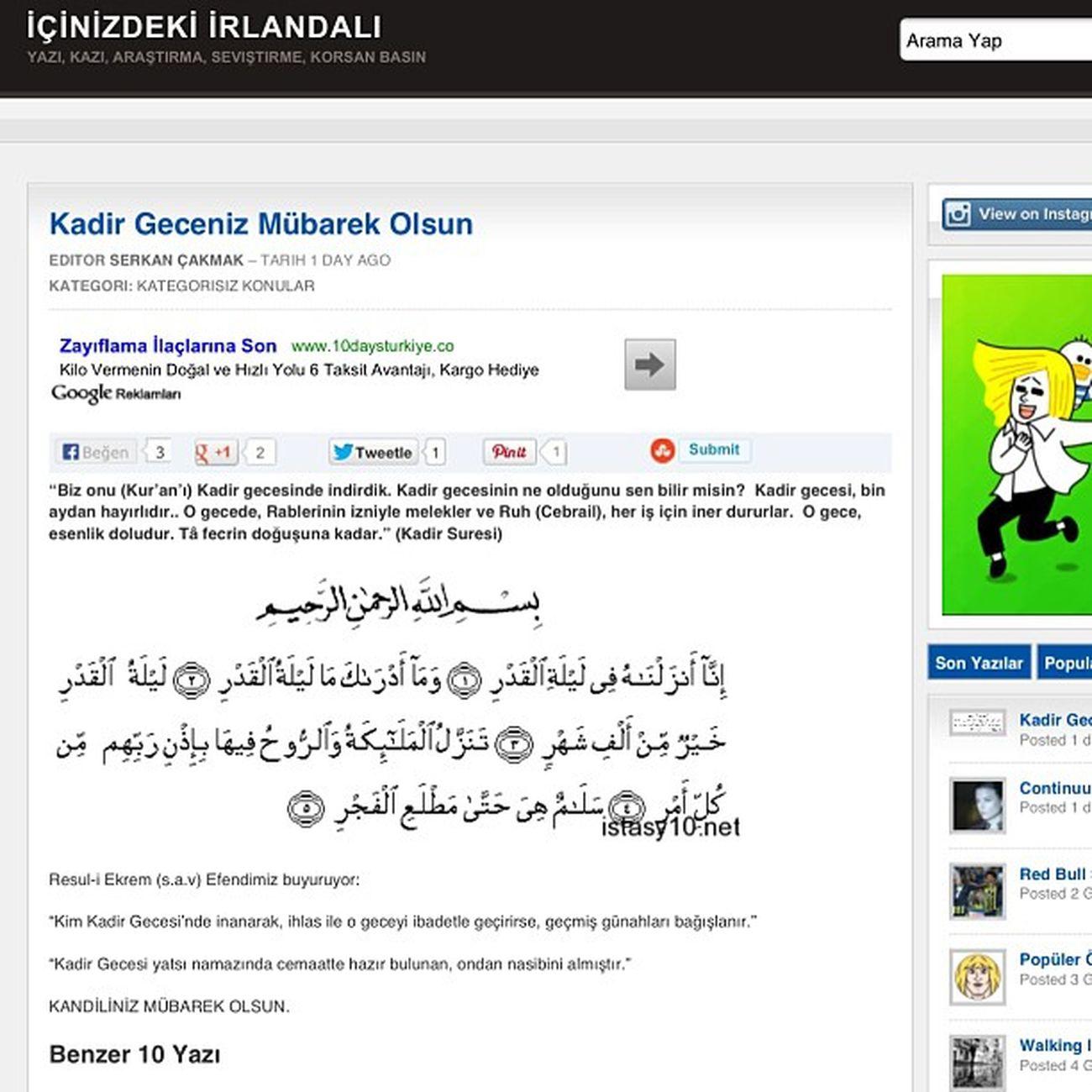 Kendi blogumdan KADİRGECESİ Kadir Kandil Ramadan  ramazan kutlama celebration blog islam din istanbul www.istasy10.net