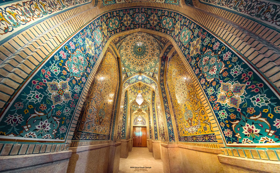 Panoramic Shahcheragh Tomb Religious Architecture Shiraz, Iran Dusk Colours Morning Light Light And Shadow Creative Light And Shadow 180° Canon 5d Mark Lll Behrang.us Handheld Exposure