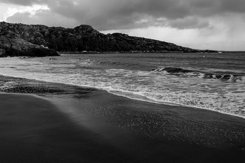 beach 35mm Beach Beauty In Nature Cloud - Sky Day Landscape Monochrone Nature No People Norway Norway🇳🇴 Outdoors Scenics Sea Sky Water Wave