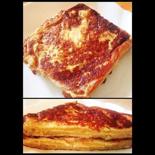 Grilled cheese french toast :) just the way we like it, toasted. Homechef Brunch Alltimefave Cheeselover