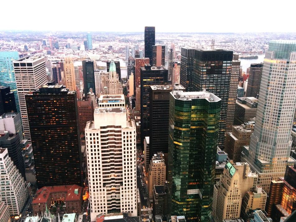 On the top of the Rock Rockafellar Center Therock Mahnattan New York Panoramic Photography Panoramic View