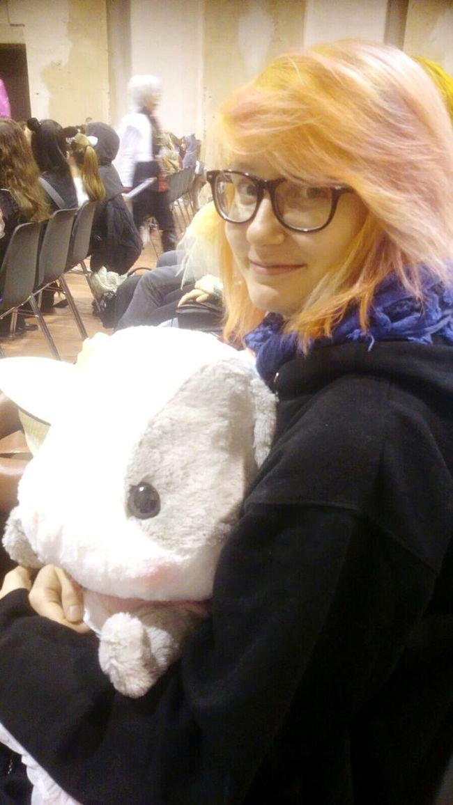 me and Harald. It was love at first sight. Love Bunny  Plushie That's Me Heyo