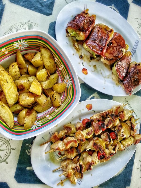 Barbecue Food And Drink Food Freshness Ready-to-eat Ecofood Vegetables Meat Bonappetit