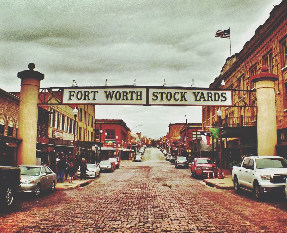 Fort Worth Stockyards iconic Sign Cityscapes Cowtown Howdy