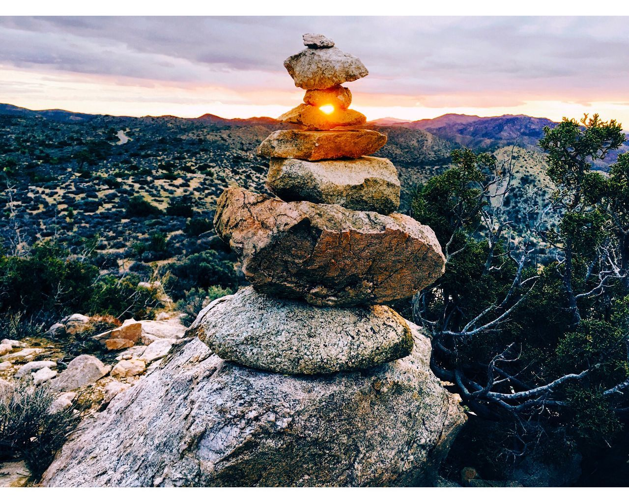 Stack Tranquil Scene Beauty In Nature Rock - Object Stone - Object Outdoors IPhone Photography Sunrise