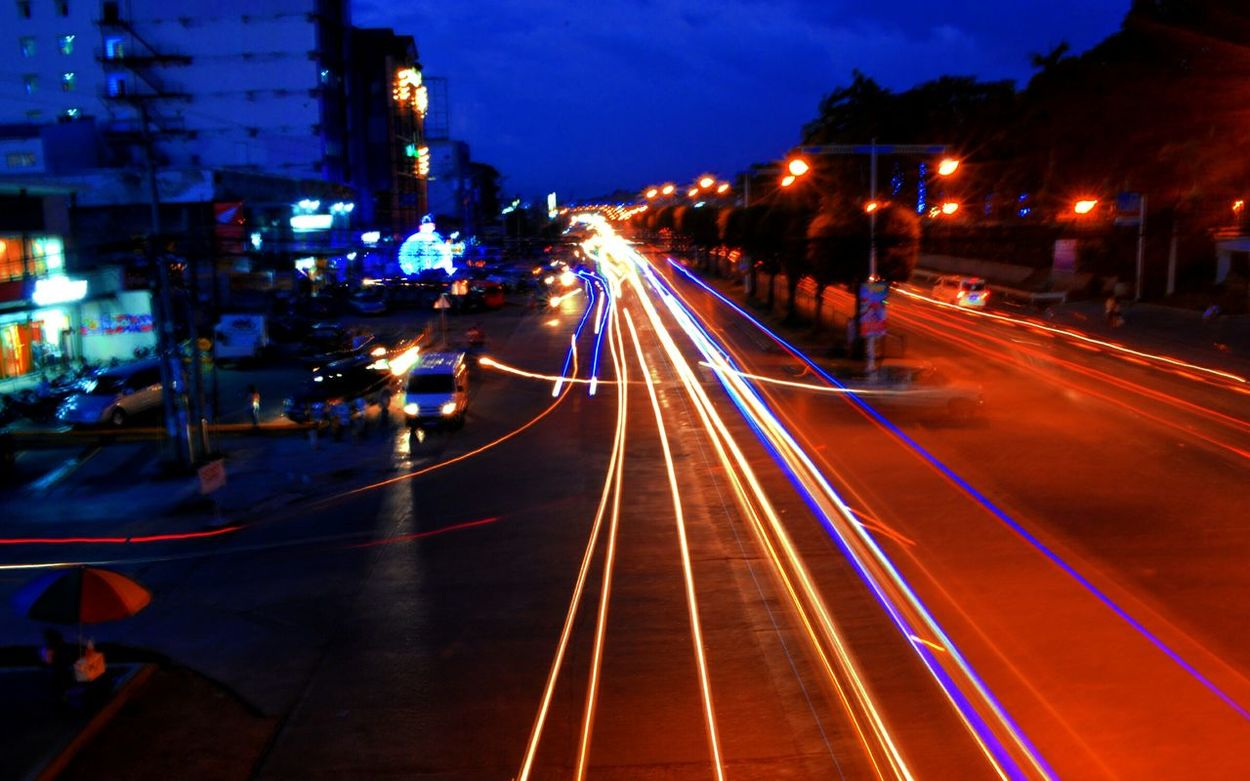 Streetphotography City Lights Lights In Motion Kidapawan City