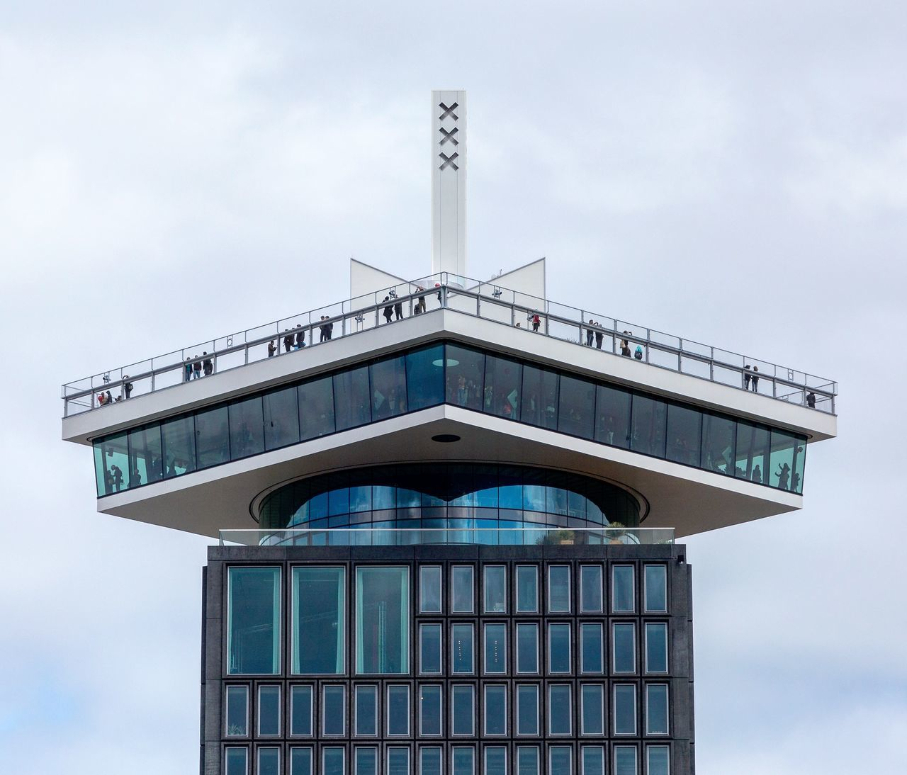 Tower Architecture Building Exterior Sky Built Structure Cloud - Sky Outdoors No People Day Business Finance And Industry Travel Destinations Modern City Politics And Government Amsterdamcity Amsterdam