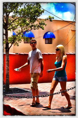 People watching at Downtown Ft Myers by John Bruewer