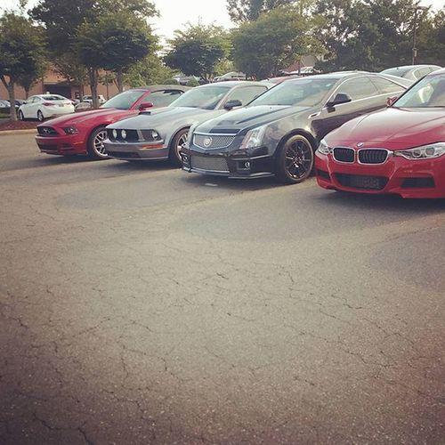 That line up tho Salesporter Lotattendant Porterlife Lotattendantlife Bmw 3series Cadillac Ctsv Ford Mustang