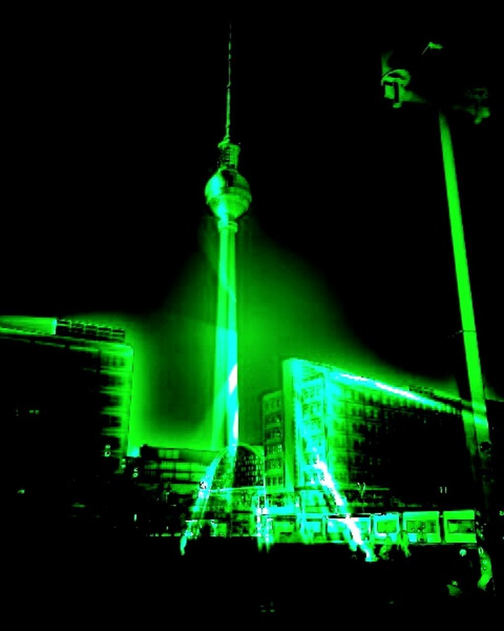 green color, illuminated, night, neon, outdoors, no people