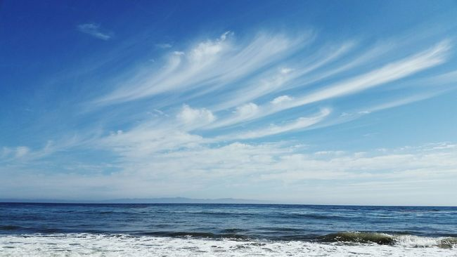 Pacific Ocean Sky And Clouds Beach Beachphotography Surf Photography Life Is A Beach Beautiful View Monochrome Say Hi! Santa Barbara