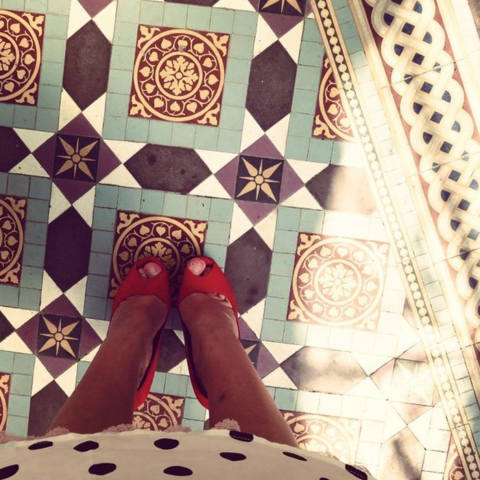 TiledFloor Redshoes Floor Peeptoe Lovethisplace Prestonpark Ihaveathingwithfloors