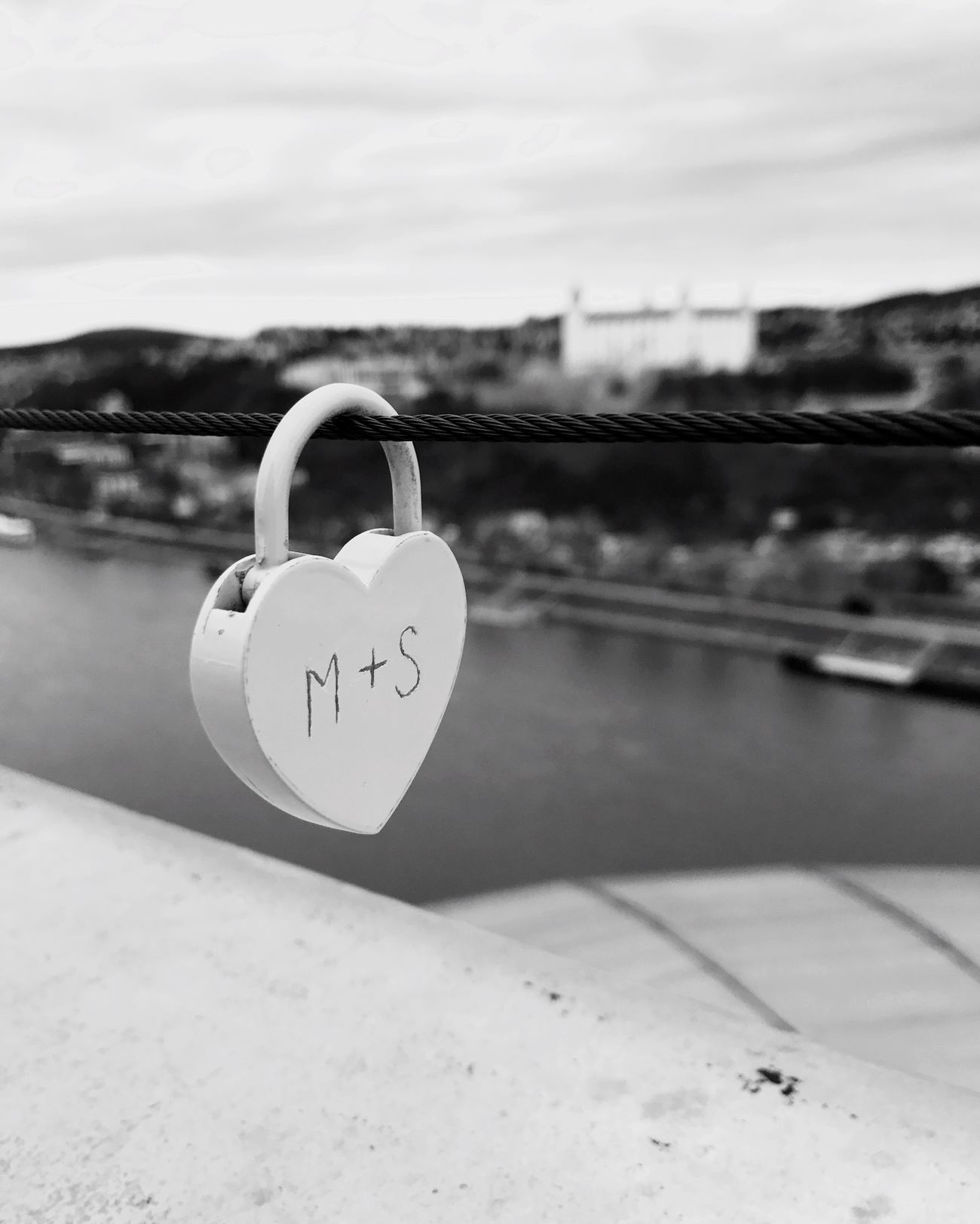 bratislava Padlock Love Heart Shape Sky Focus On Foreground Valentine Day - Holiday Text Outdoors Romance Day Communication Close-up Water No People