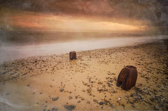 Golden Beach Beach Golden Hour Long Exposure Sea And Sky Seaside Seascape Sea View Moody Sky Mextures Orange Sky Warm Sun Sunrise Beautiful Nature British Seaside Great Britain Landscape Photography Beach Photography Waves Water Motion Ocean View Southwold